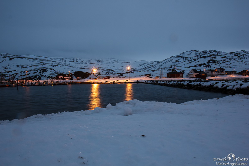 поселок Skarsvаg,polar night,norway,nordkapp,scandinavia