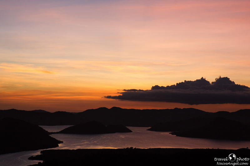 red color of sunset,busuanga,Coron,philippines