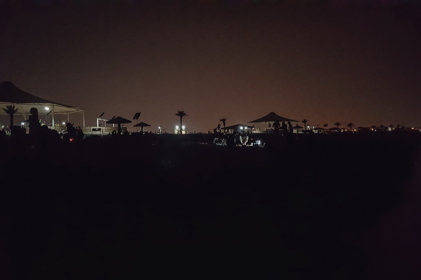 night beach for local people, night lights,layover,Doha ,Qatar