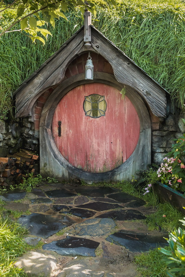 underground house,The Hobbiton, The Shire,Хоббитшир, Удел, Хоббитания, Заселье, Край,Matamata, North Island ,New Zealand