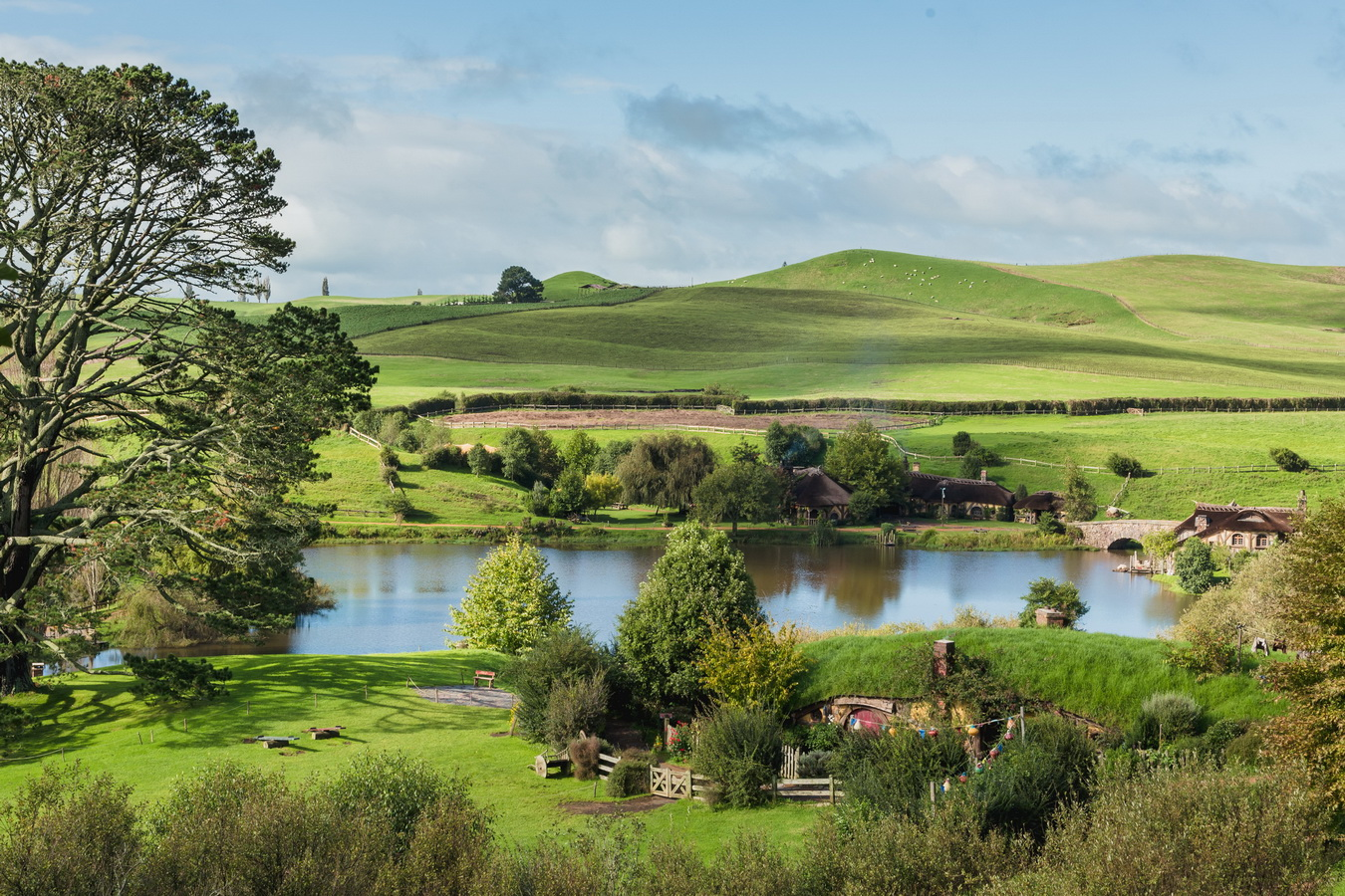 The Hobbiton, The Shire,Хоббитшир, Удел, Хоббитания, Заселье, Край movie set,The Hobbiton, The Shire,Хоббитшир, Удел, Хоббитания, Заселье, Край,Matamata, North Island ,New Zealand