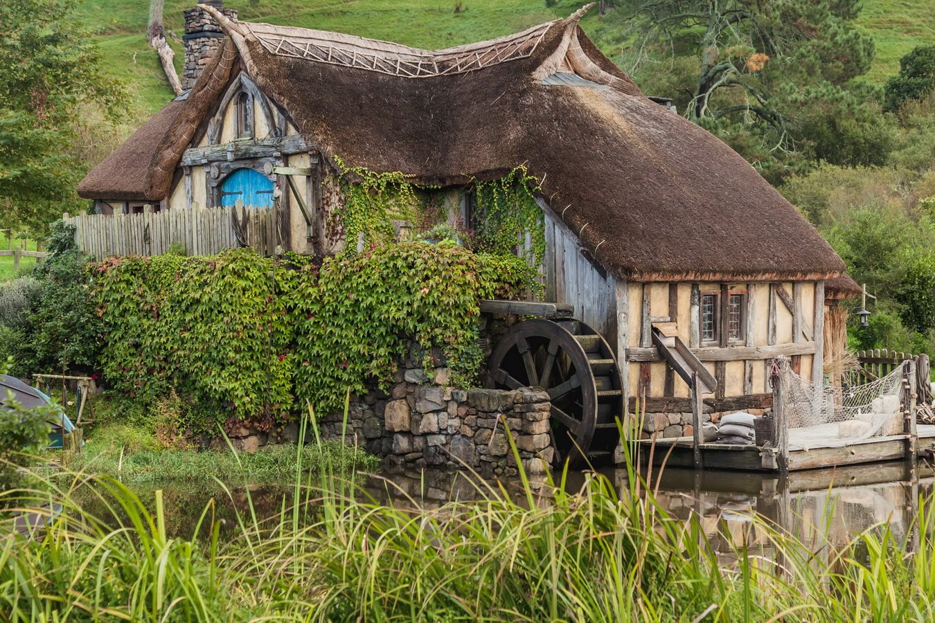 mill,The Hobbiton, The Shire,Хоббитшир, Удел, Хоббитания, Заселье, Край,Matamata, North Island ,New Zealand