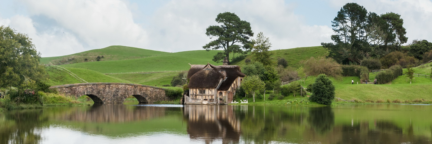 mill,lake,bridge,The Hobbiton, The Shire,Хоббитшир, Удел, Хоббитания, Заселье, Край,Matamata, North Island ,New Zealand