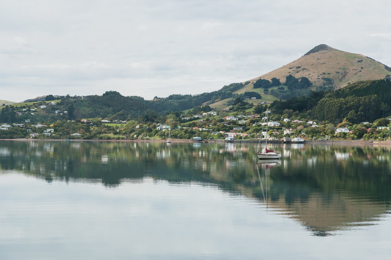 reflection in the bay,Dunedin, South Island ,New Zealand