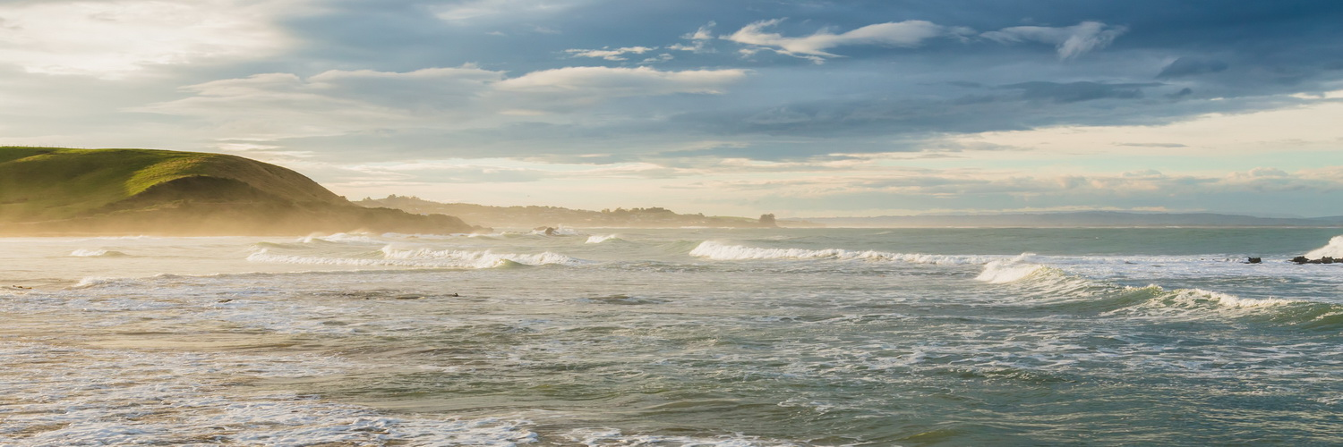 sunset,Nugget Point,ocean, South Island ,New Zealand