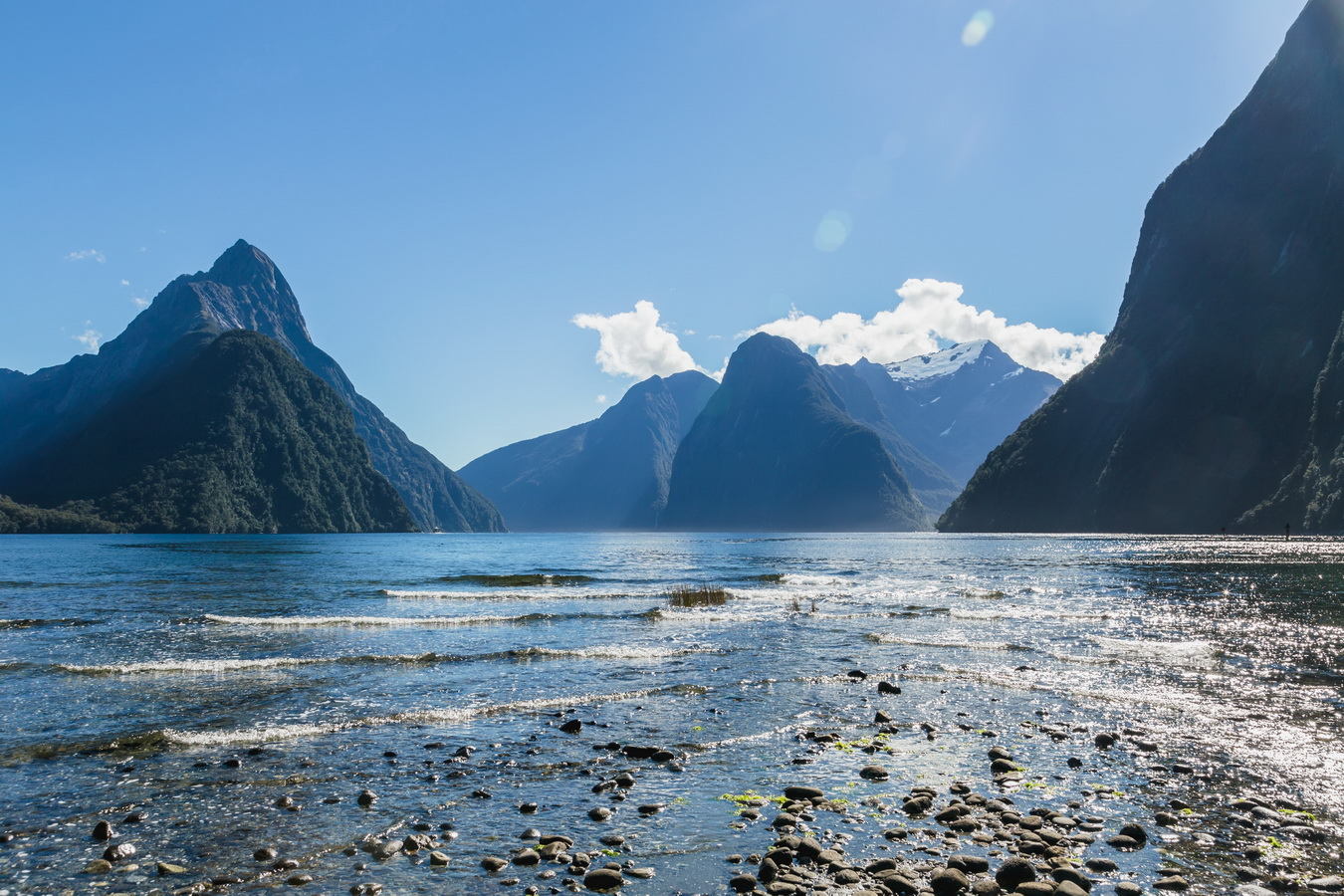 classical view, Milford Sound, Fjord land, Fjordland National Park,South Island ,New Zealand