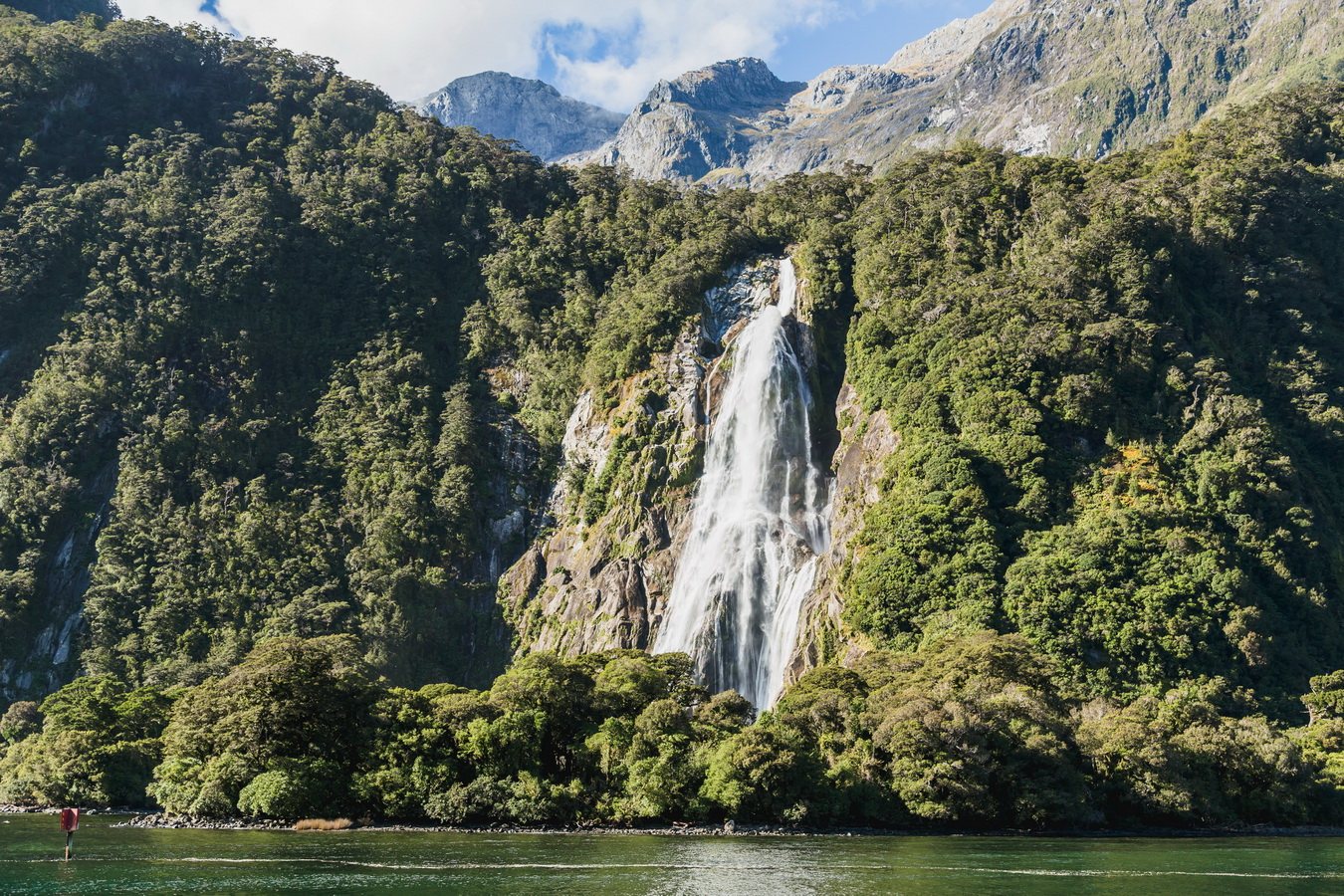 Bowen Falls, Milford Sound, Fjord land, Fjordland National Park,South Island ,New Zealand