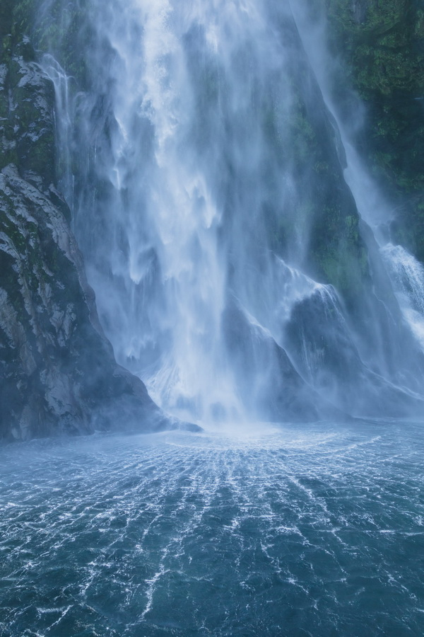Stirling Falls, Milford Sound, Fjord land, Fjordland National Park,South Island ,New Zealand