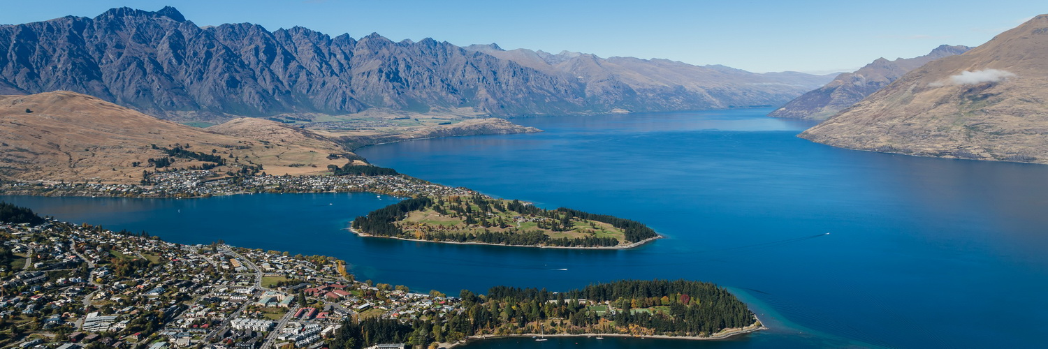 panorama, Lake Wakatipu,Skyline Queenstown,ben lomond,Queenstown,South Island ,New Zealand