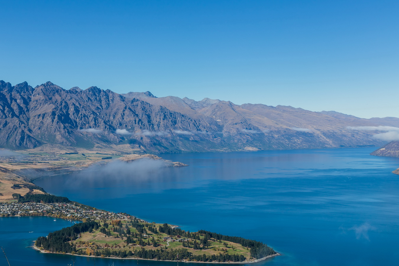 Lake Wakatipu,panorama,Skyline Queenstown,ben lomond,Queenstown,South Island ,New Zealand