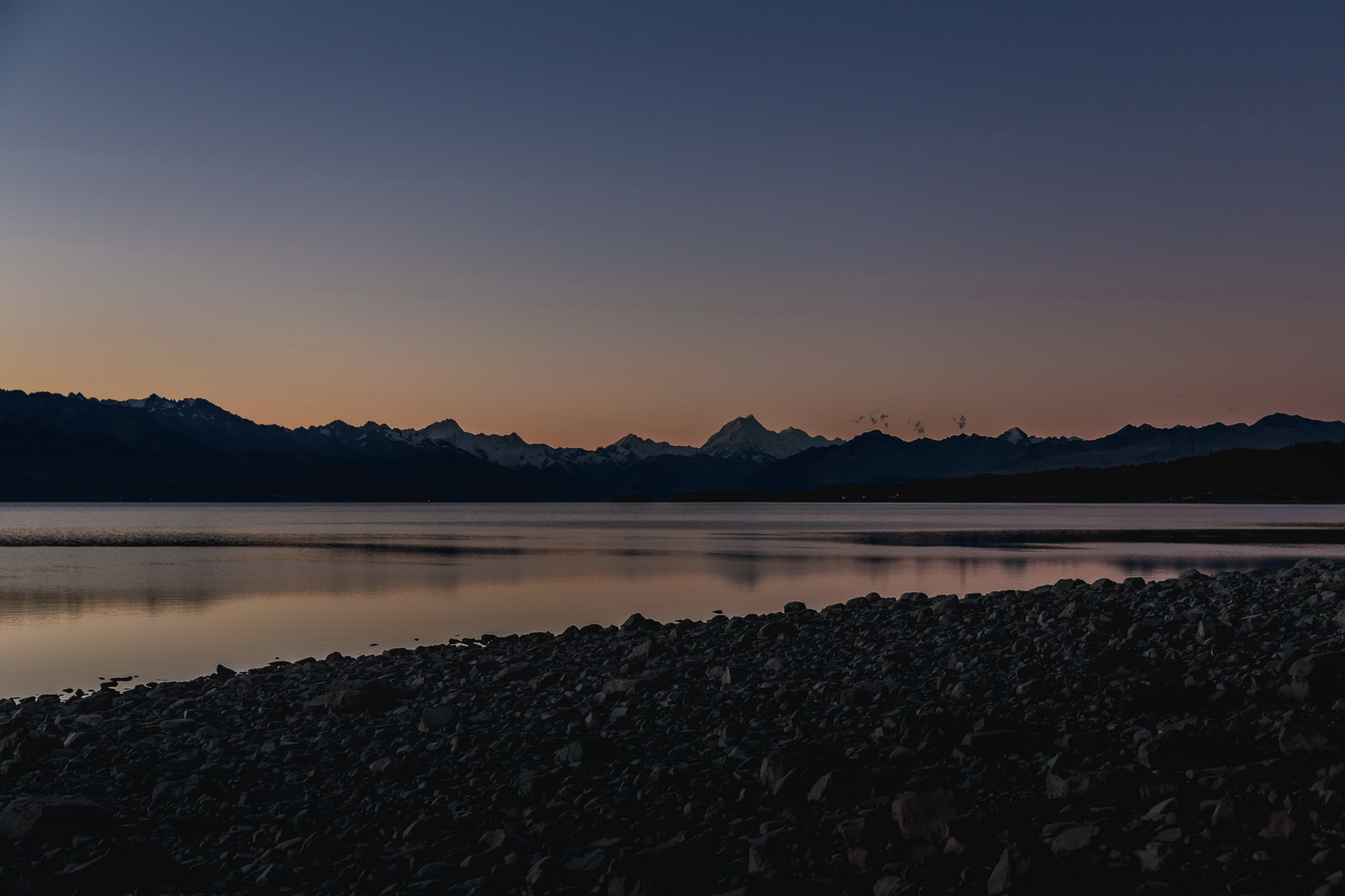sunset, Lake Pukaki,Mount Cook,Aoraki,South Alps, Mount Cook National Park, South Island ,New Zealand