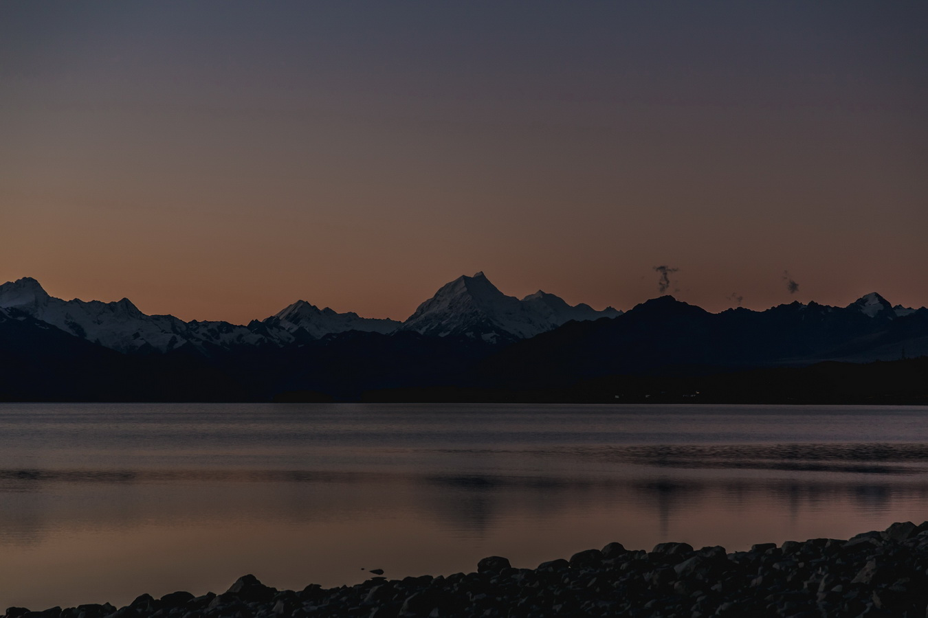 sunset, Lake Pukaki,Mount Cook,Aoraki, Mount Cook National Park, South Island ,New Zealand