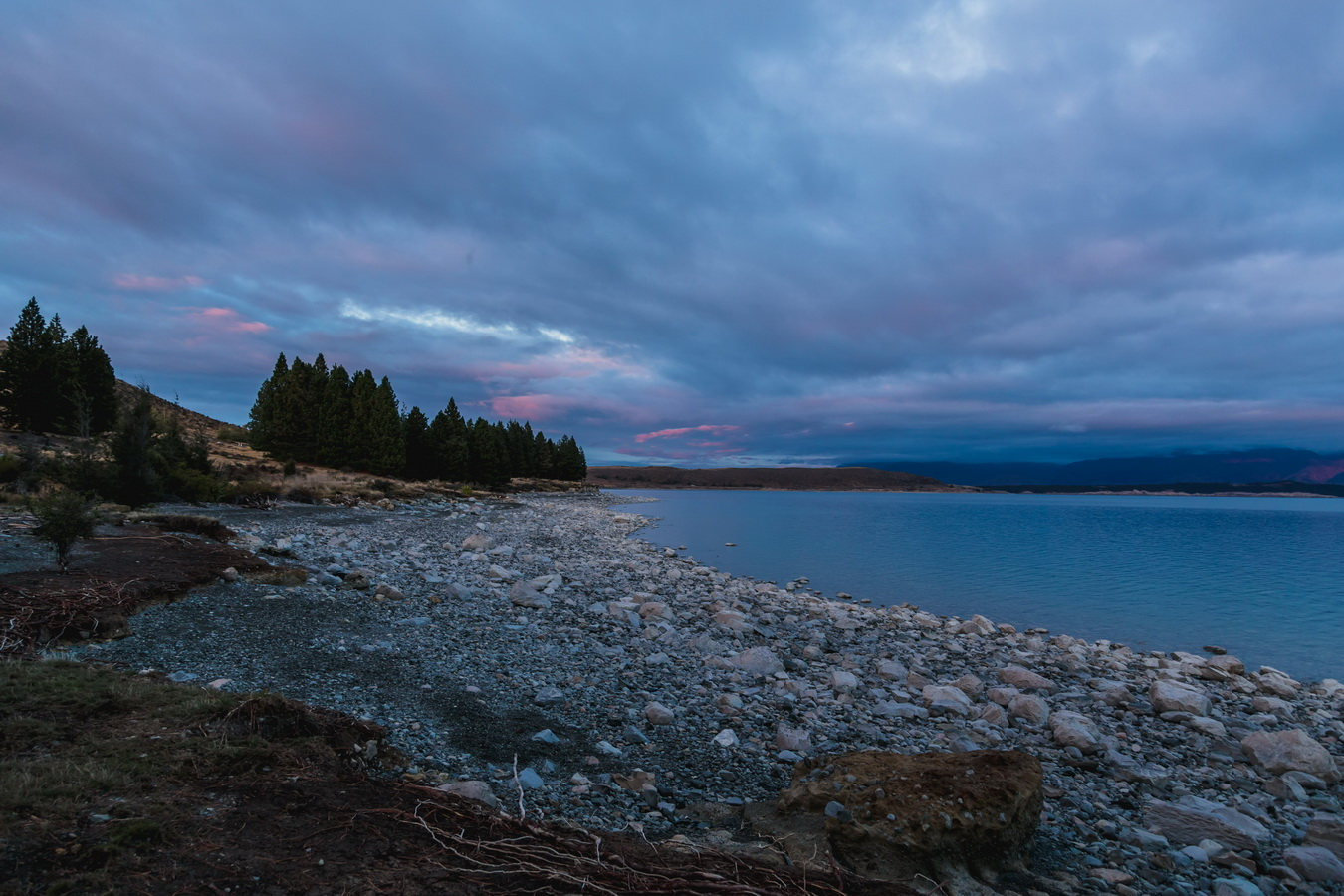 sunset, Lake Pukaki, Mount Cook National Park, South Island ,New Zealand