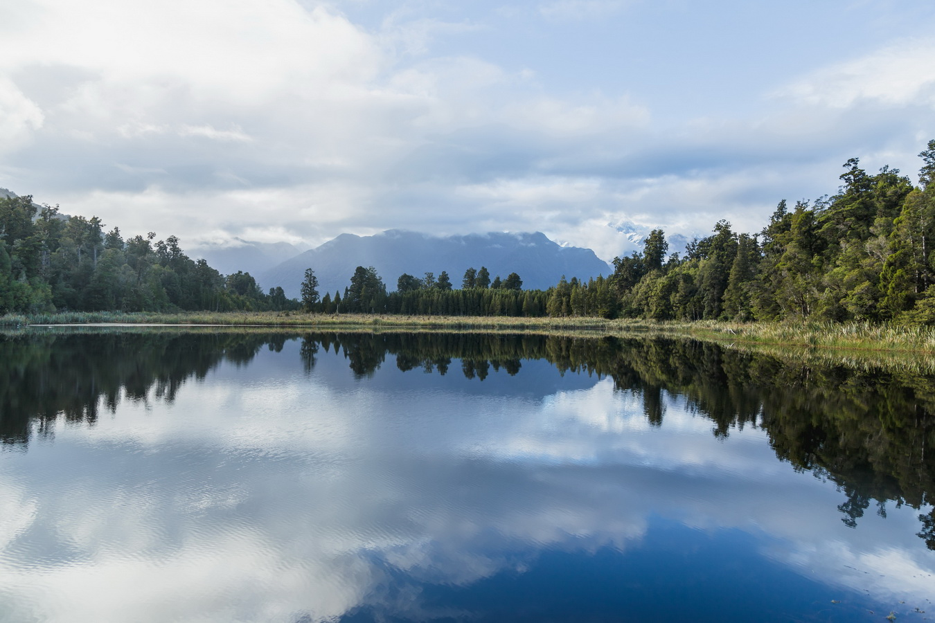 Jetty Viewpoint,Lake Matheson, South Island ,New Zealand