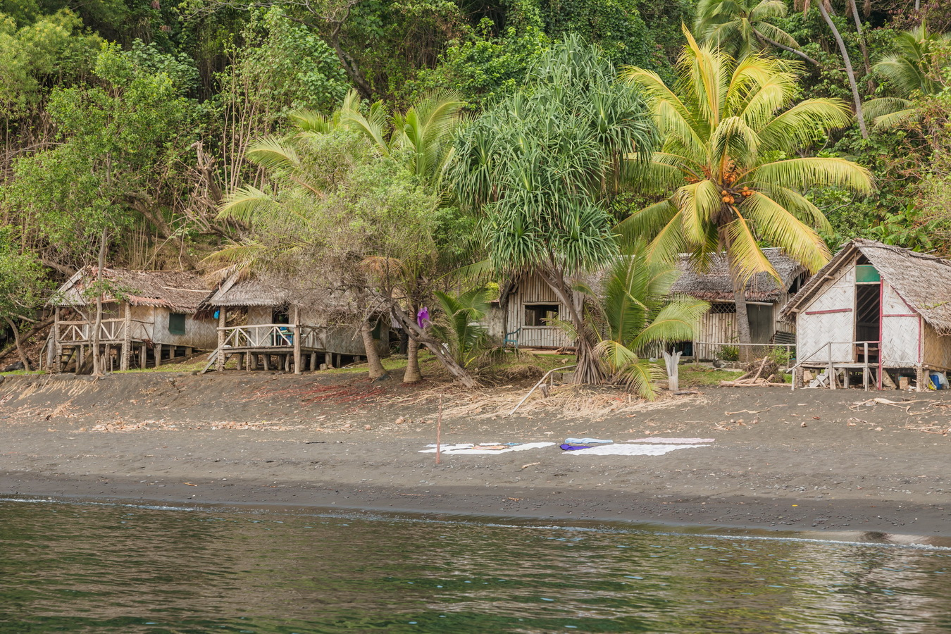 Ranon, beach bungalows,Rom dances,Fanla, north Ambrym, Ambrym, Vanuatu