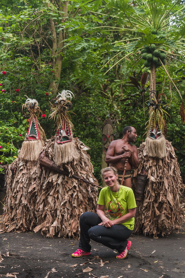 photo with locals,Rom dances,Fanla, north Ambrym, Ambrym, Vanuatu