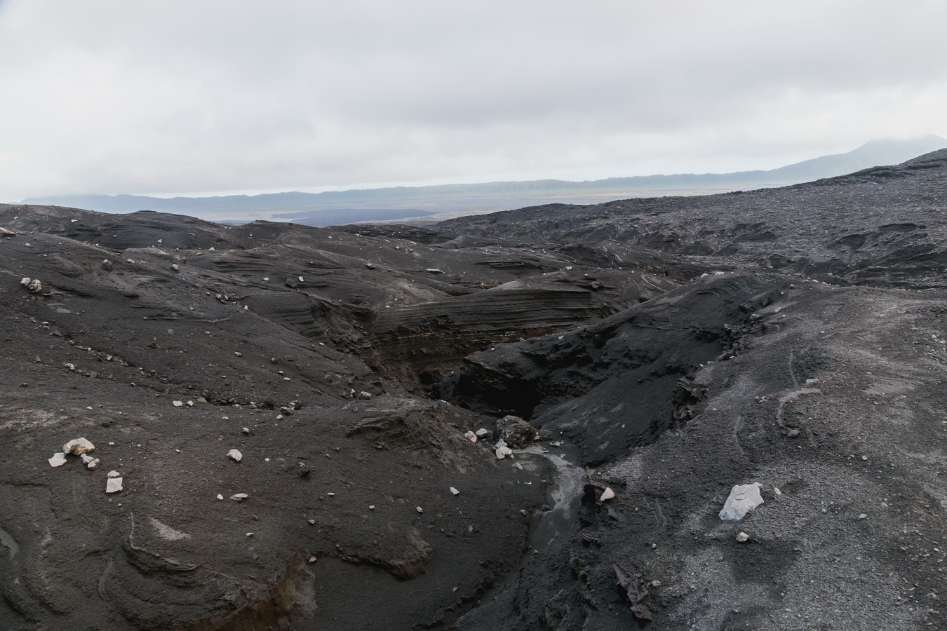 way to west camp,lava fields,clouds,crater,volcano,Ambrym,Vanuatu
